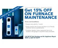 15% OFF on Furnace Maintenance!